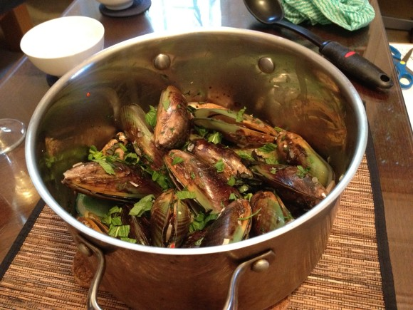 Mussels with Lemongrass and Chilli